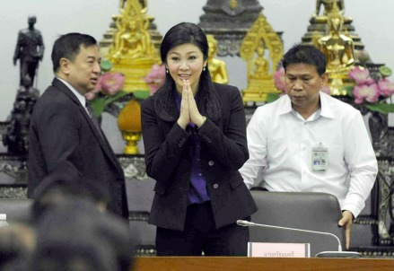 Il premier tailandese, Yingluck Shinawatra (Infophoto)