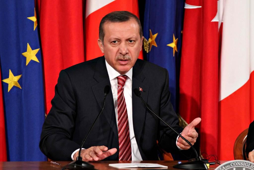 Il presidente turco Erdogan, foto InfoPhoto