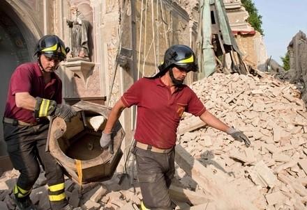 Le aree colpite dal terremoto in Emilia-Romagna
