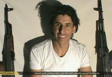 Il terrorista tunisino arrestato (Immagine dal web)