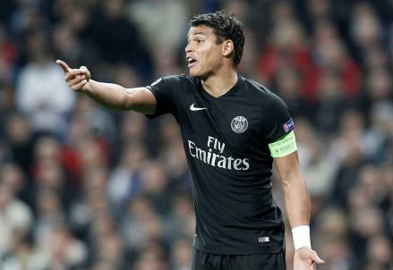 Il brasiliano Thiago Silva, 31 anni, difensore e capitano del PSG (INFOPHOTO)