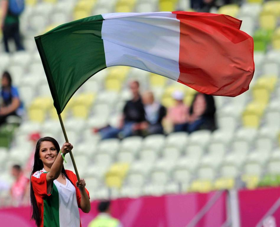 La bandiera italiana (Foto: Infophoto)