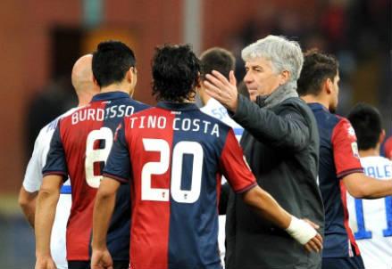 Gasperini con Tino Costa (infophoto)