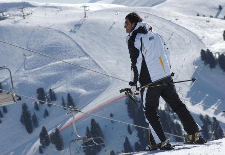 Alberto Tomba sugli sci