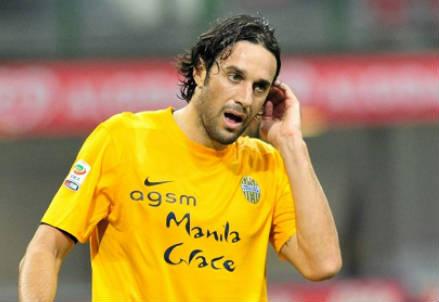 Luca Toni, 36 anni, attaccante dell'Hellas Verona: 4 gol in campionato per lui (INFOPHOTO)