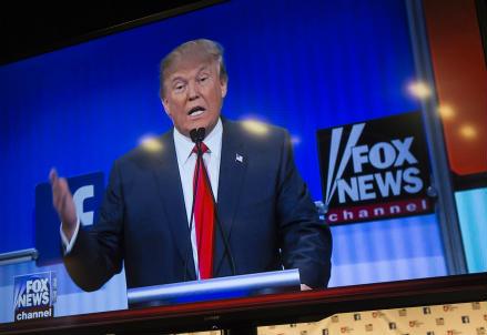 Donald Trump durante il dibattito di Cleveland