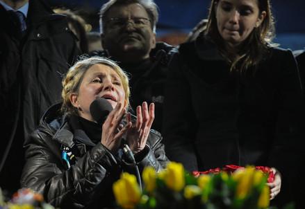 Julia Tymoshenko appena liberata (Infophoto)