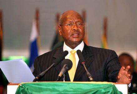 Il presidente dell'Uganda, Yoweri Museveni