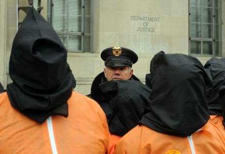 Protesta contro Guantanamo negli Stati Uniti (Infophoto)