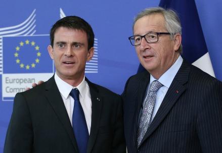 Manuel Valls con Jean-Claude Juncker (Infophoto)