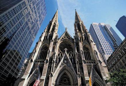 New York, la chiesa di St Patrick (Infophoto)