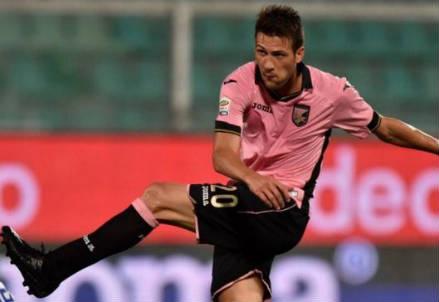 Vazquez, attaccante Palermo (Infophoto)