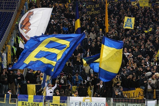 I tifosi del Verona (Infophoto)