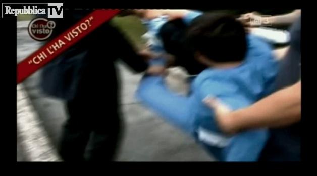 Un frame del video del bambino prelevato dalle forze dell'ordine