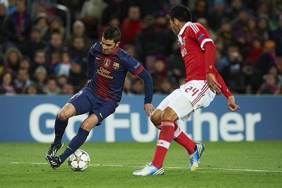 David Villa in azione ai tempi del Barcellona (Infophoto)