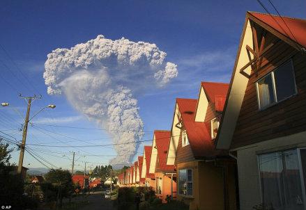 L'eruzione in Cile