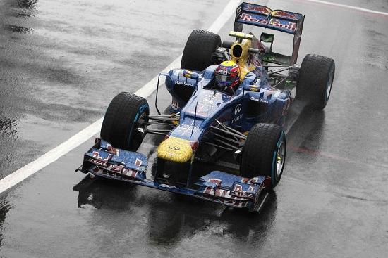 Mark Webber, 35 anni, vincitore del gran premio di Gran Bretagna (INFOPHOTO)