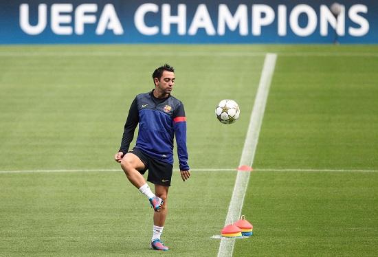 Xavi, centrocampista Barcellona (Infophoto)