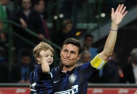 Javier Zanetti, 41 anni, bandiera dell'Inter (INFOPHOTO)