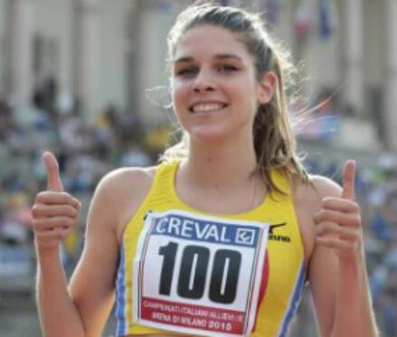 Marta Zenoni festeggia la sua vittoria di ieri (da Facebook Marta Zenoni)