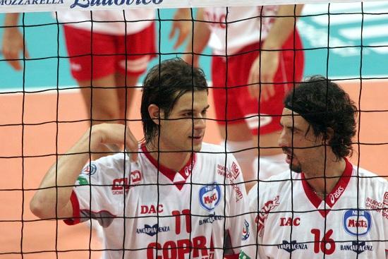 Vigor Bovolenta con Zlatanov ai tempi di Piacenza (Infophoto)
