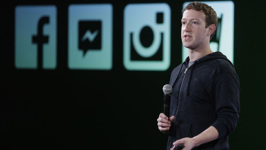 Zuckerberg nel corso dell'evento del 20 Giugno