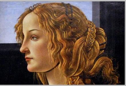 Venere di Botticelli. Particolare