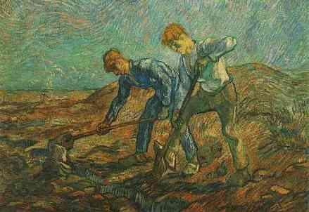 Vincent Van Gogh - Contadini al lavoro