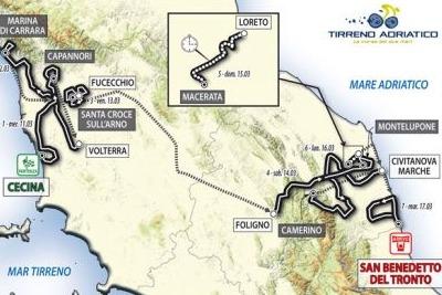 percorso Tirreno-Adriatico
