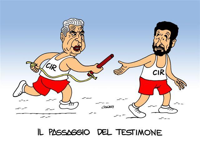 Il passaggio del testimone in Cir (Claudio Cadei)