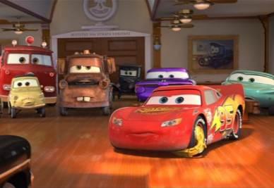 Una scena di Cars