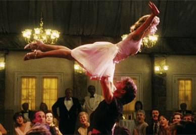 Un scena di Dirty Dancing