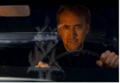 Nicolas Cage in una scena di Drive Angry