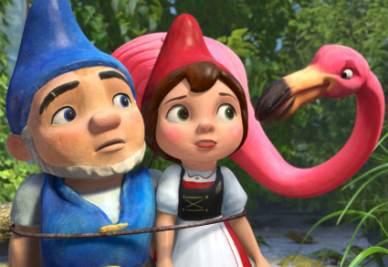 Una scena del film Gnomeo & Giulietta