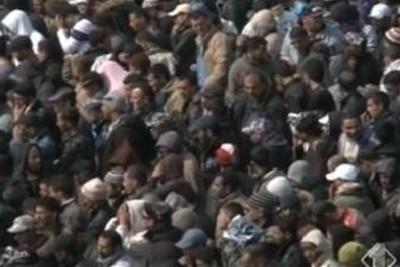 I profughi a Lampedusa