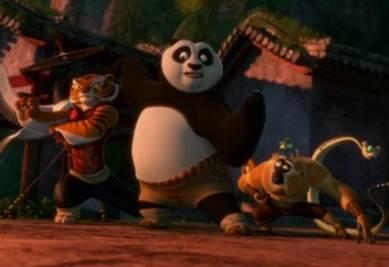 Una scena di Kung Fu Panda 2