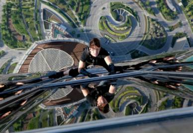 Una scena del film Mission:Impossible - Protocollo fantasma