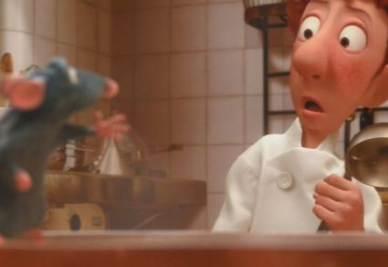 Una scena di Ratatouille