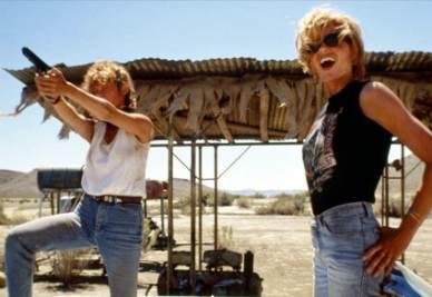 Una scena del film Thelma & Louise