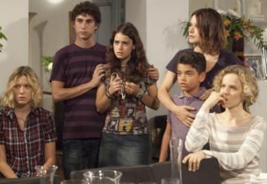 Una scena della fiction Una grande famiglia