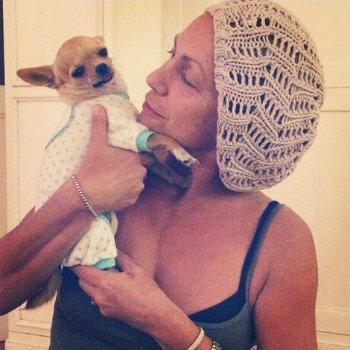 Alessandra Celentano e il suo cagnolino