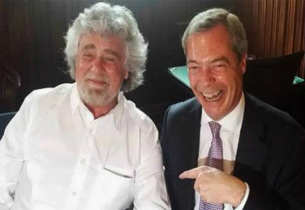Beppe Grillo e Nigel Farage