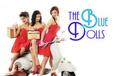 Il trio delle Blue Dolls che ha inciso il repertorio del Trio Lescano per il film Le ragazze dello swing