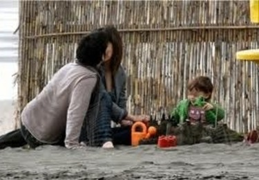 Eva e Marco con la piccola Marta