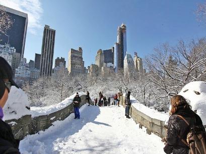 New York ricoperta dalla neve