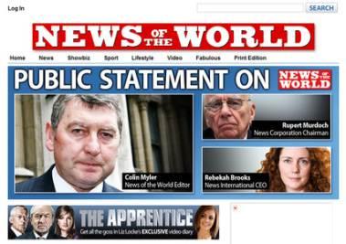 La homepage del NOTW