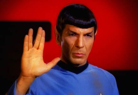 Leonard Nimoy nei panni di Spock