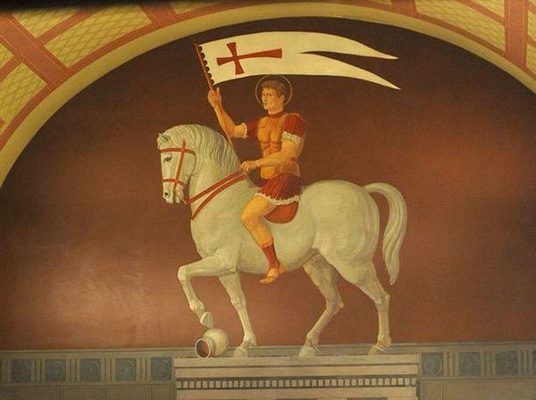 Sant'Alessandro Martire patrono di Bergamo in un dipinto