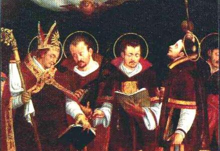 San Vigilio, vescovo di Trento, e i santi Alessandro, Sisinnio e Martirio