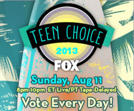 TEEN CHOICE AWARDS 2013/ Le nomination: domina Breaking Dawn - Parte 2
